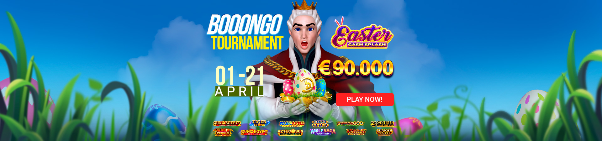2021 03 King Billy English Booongo Tournament Easter Cash Splash 1920x450